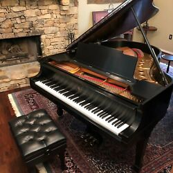 STEINWAY MODEL M 5 ft. 7 in. baby grand piano restored to like new condition