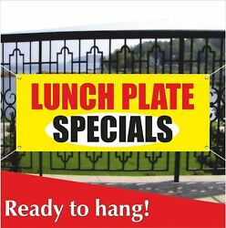 Lunch Plate Specials Banner Vinyl / Mesh Banner Sign Food Drinks Coffe Luncheon