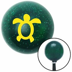 Yellow Simple Turtle Green Metal Flake Shift Knob With 16mm X 1.5 Insert