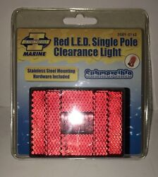 Invincible Marine Red Led Single Pole Clearance Light Submersible Br59313 New