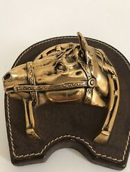 Vintage Horse Equestrian Paper Weight Decor Library Office