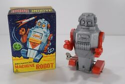 1960's Vintage Noguchi Space Mighty Robot Wind Up Astronaut Tin And Plastic Toy
