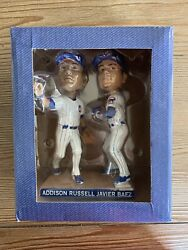 2017 Chicago Cubs Javier Baez/addison Russell Turning Two Bobblehead 7/5/17 Sga