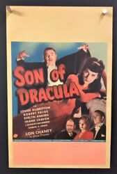 Son Of Dracula Original Movie Poster Window Card - Chaney Hollywood Posters