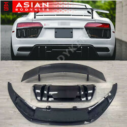 for Audi R8 Type 4S Carbon Bodykit (2016-2019) front lip rear diffuser spoiler