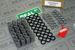 Gsc Vr38dett Conical Valve Springs And Titanium Retainers W/ Steel Spring Seats
