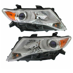 For 09-12 Venza Front Headlight Headlamp HID/Xenon Head Light w/Bulb Set Pair