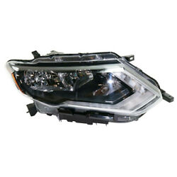For 17 18 19 Rogue Front Headlight Headlamp Halogen Head Lamp W/bulb Right Side