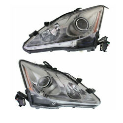 For 06-08 Is250/is350 Front Headlight Headlamp Xenon Head Light Lamp Set Pair