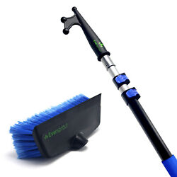 Eversprout 5-to-13 Foot Boat Hook And Scrub Brush Kit15-20ft Reach Soft Bristle