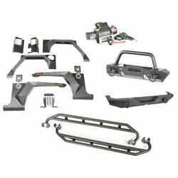 RuggedRidge 11615.51 XHD Armor Package w/Hoop Over Rider for 2007-2018 Jeep JK