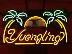 New Yuengling Eagle Palm Trees Logo Beer Bar Neon Light Sign 24x20