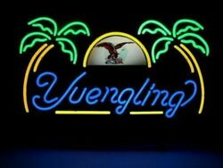 New Yuengling Eagle Palm Trees Bar Neon Light Sign 24x20