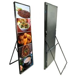 P4 Rgb Full Color Indoor Floor Standing Creative Mirror Led Poster Display