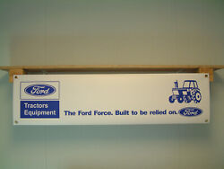 Ford Force Tractors Banner Workshop Tractor Equipment Shed Farm Show Sign