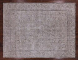 9and039 5 X 12and039 4 Vintage White Wash Hand Knotted Wool Rug - Q2558