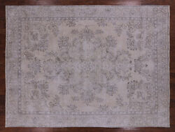 9and039 5 X 12and039 7 Vintage White Wash Handmade Rug - Q2566