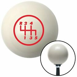 Red 5 Speed Shift Pattern - 5rul Ivory Shift Knob Mg Tc Road King Accessory 1932