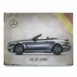 Signature Mercedes Wooden Picture Streets Rods Muscle Cars Rat Rods Hot Rods