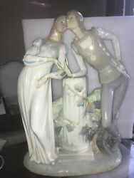 Lladro Hand Made In Spain Man And Women Ancient