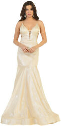 SALE SPECIAL OCCASION STRETCH DRESSES FORMAL RED CARPET SHINY EVENING PROM GOWN $99.99