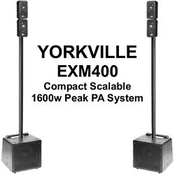 Yorkville Exm400 Compact Scalable Bluetooth 1600w Peak Pa Speaker System Pair