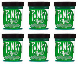 6 X Jerome Russell Punky Colour Semi-permanent Hair Color Apple Green 1446
