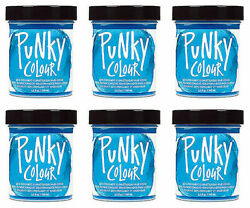 6 X Jerome Russell Punky Colour Semi-permanent Hair Color Lagoon Blue 1434