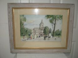 Paul Starrett Sample State Capitol New Hampshire Own & Hung in Governors Office