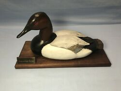 Vintage Painted Wooden Duck Decoy Gary Gilmore 1979 D5 Canvasback Drake