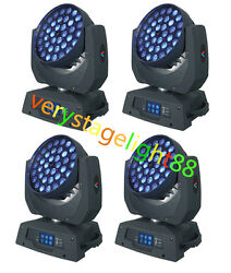 Fast Shipping 36x18w Rgbwa Uv 6in1 Zoom Wash Led Moving Head Light 4pcs/flycase
