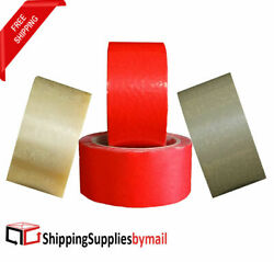 1-10 Cases Pvc Packing Tape Pressure Sensitive Adhesive Choose Size And Color