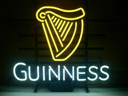 New Guinness Irish Lager Ale Harp Beer Man Cave Neon Light Sign 32x24