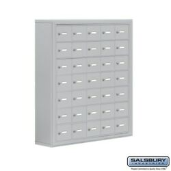 Cell Phone Lockers - 35 Doors - Surface Mounted - Master Keyed Locks