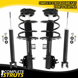 Front Complete Struts And Rear Shocks For 2013-2017 Nissan Altima Sedan 4 Cyl