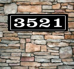 Personalized Home Address Sign Aluminum 3quot; x 12quot; Custom House Number Plaque sq8