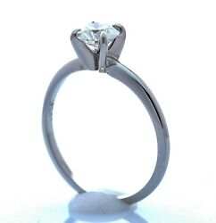 Gia - Round .70ct I Si1 - Triple Ex - Platinum 6 Prong Size-7.25 Sizable