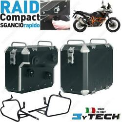 Aluminium Cases Black Mytech 33 39l Quick Ktm 1190 Adventure Abs 2013-2016