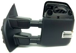 Ford Super Duty Heat Puddle Light Telescopic Trailer Tow Driver Side View Mirror