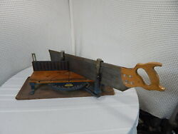 Vintage 20 Stanley Commercial Miter Box And 28 Saw 11t.p.i No.2358a
