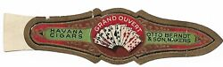 Havana Cigars Vintage Band Label Grand Ouvert Otto Berndt And Sons Poker Cards