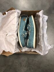 Sperry Coil Ivy Blue Water Canvas Womens Boat Shoes; Color: Blue Size: 9.5M set2