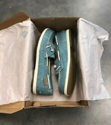 Sperry Coil Ivy Blue Water Canvas Womens Boat Shoes; Color: Blue Size: 9.5M set3