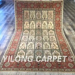 Clearance Yilong 5and039x8and039 Handmade Wool Rug Four Seasons Hand-knotted Carpets 2022