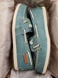 Sperry Coil Ivy Blue Water Canvas Womens Boat Shoes; Color: Blue Size: 6M  set 2
