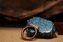 Super Holly Old Antique Ming Dynasty Sky Iron Vajra Ring Fits Size US10