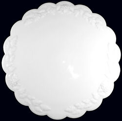 Westmoreland Milk Glass Paneled Grape Pattern 12d Low Footed Cake Plate Stand