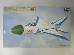 Vintage Aa 1/48 Chinese Air Forceand039s New Supersonic F-8ii Model Kit Aq 48004
