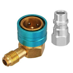 R1234YF, R-1234yf, YF, Car AC Low Side Coupler to R134A Adapter #3630 90° Degree