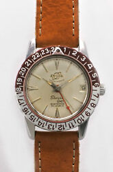 ENICAR SHERPA GMT Automatic winding vintage Men's Watch 1962's Overhauled